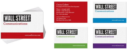 Wall Street Business Cards